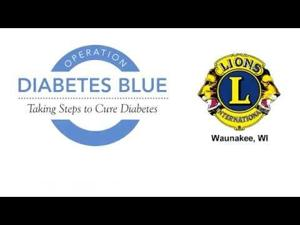 Operation Diabetes Blue - Waunakee Lions - blue lights #2