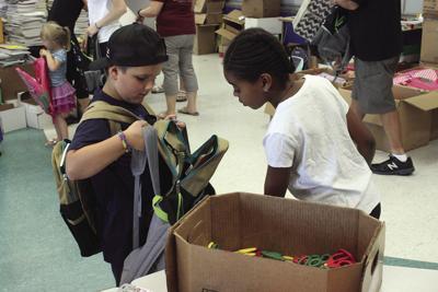 Kids help stuff backpacks (2018)