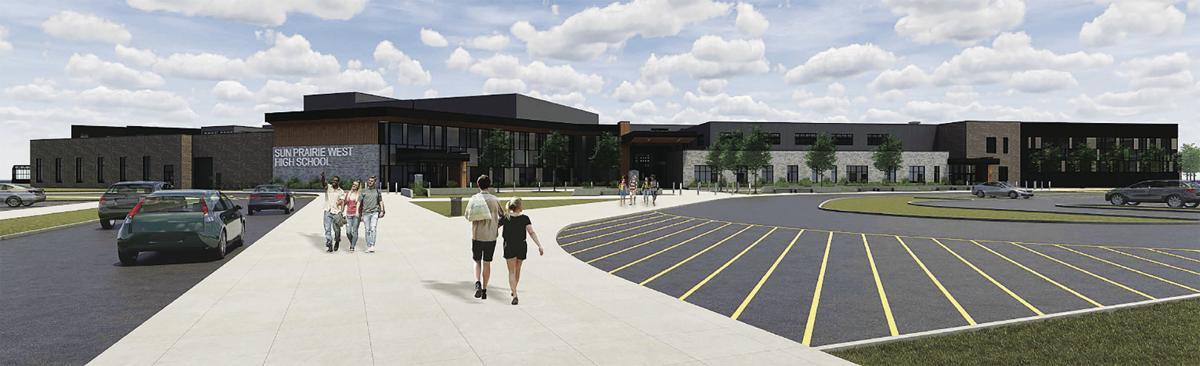 Sun Prairie West High School Exterior (2020)