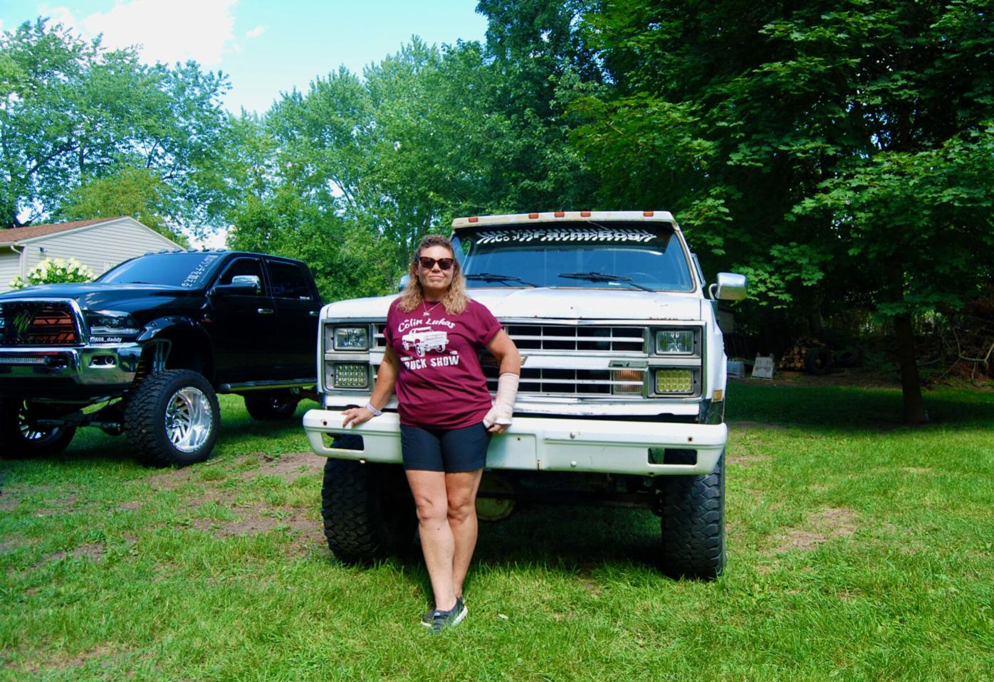 Dawn Main and Colin's truck
