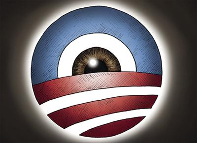 Obama Eye Logo Cartoon