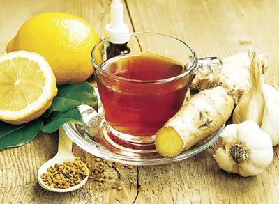 Lemon Tea with Ginger.Alternative Medicine