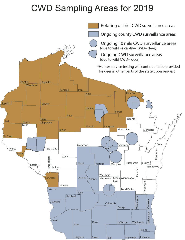 CWD sampling areas