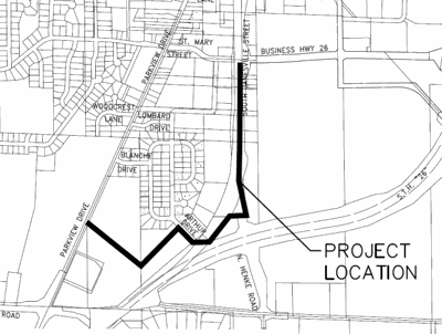 Proposed path