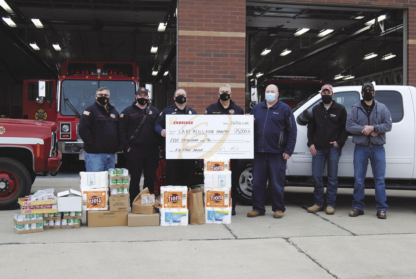 Lake Mills Fire Department receives donation