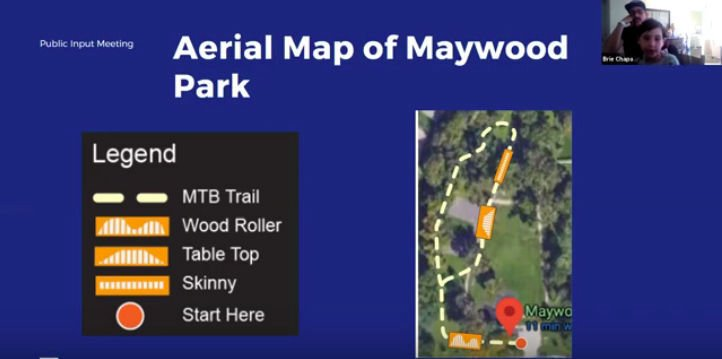 Aerial map of trail