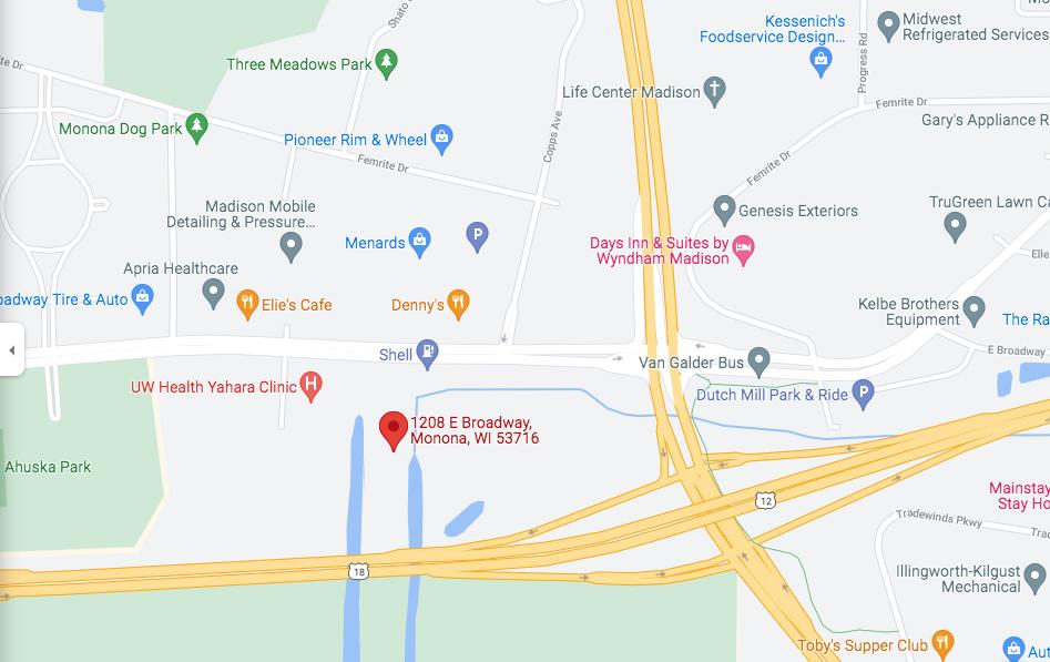 Map of development location