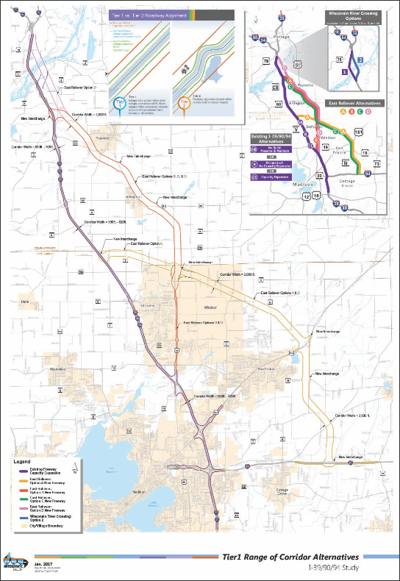 Map of the proposed plan