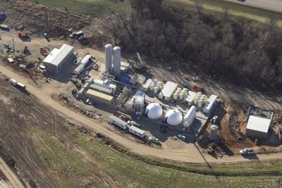 County biogas processing facility