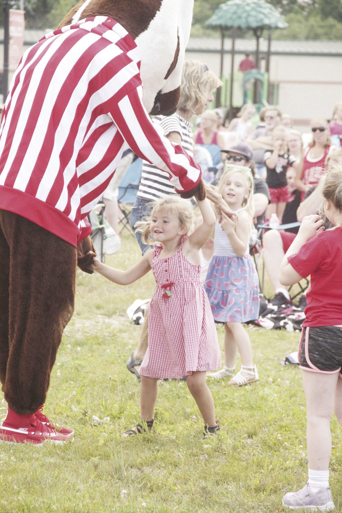 Dancing with Bucky Badger