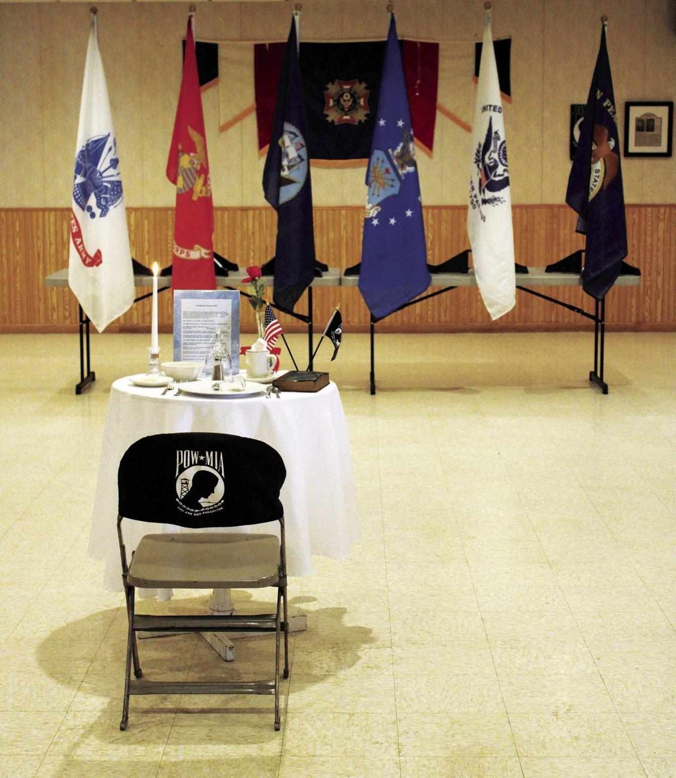POW/MIA Table at VFW Post 9362 (2020)