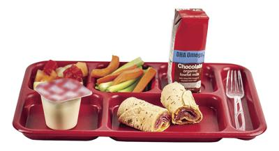 School lunch and tray
