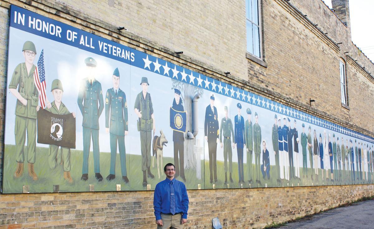 Celebrating Local Veterans Artist Putting Finishing