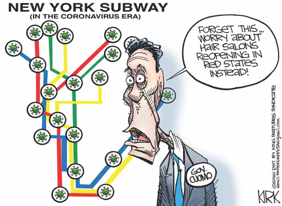 Cartoon: New York Subway