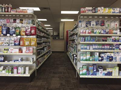 Hometown Pharmacy aisle