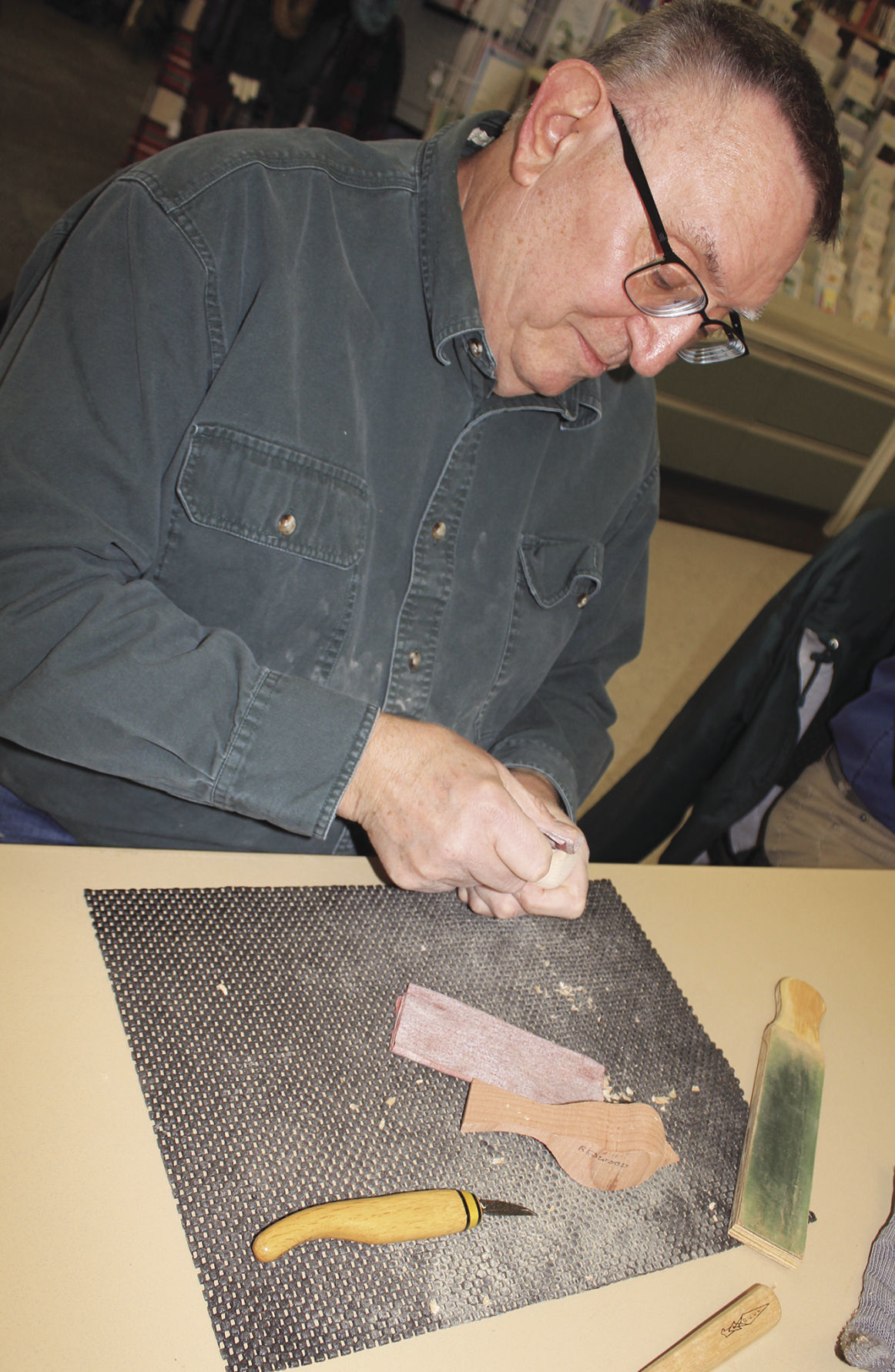 Removing the rough marks