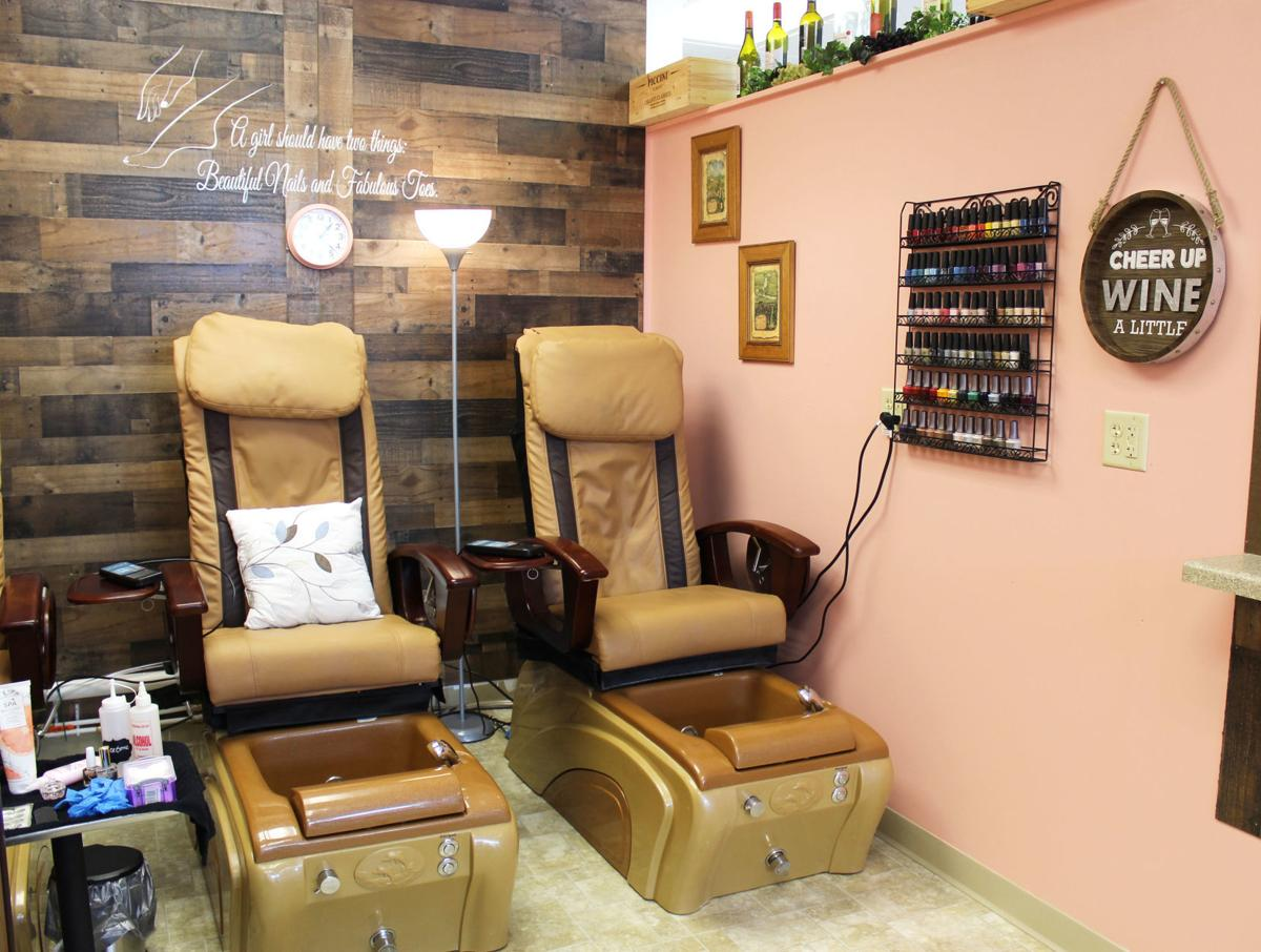 Guests can enjoy a free drink with their nail service at new
