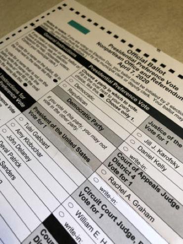 Absentee ballot