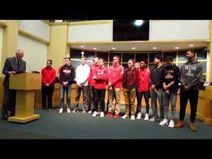 Sun Prairie High School Boys Basketball Team gets proclamation 4-17-2018