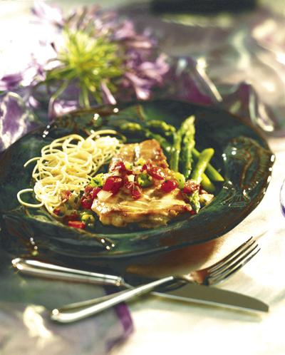 Red snapper with salsa