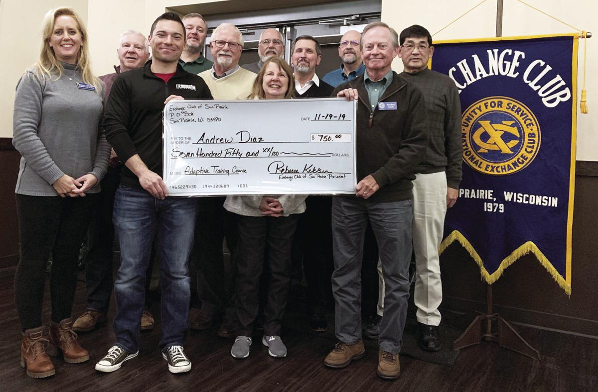 Exchange Club gives check for training course