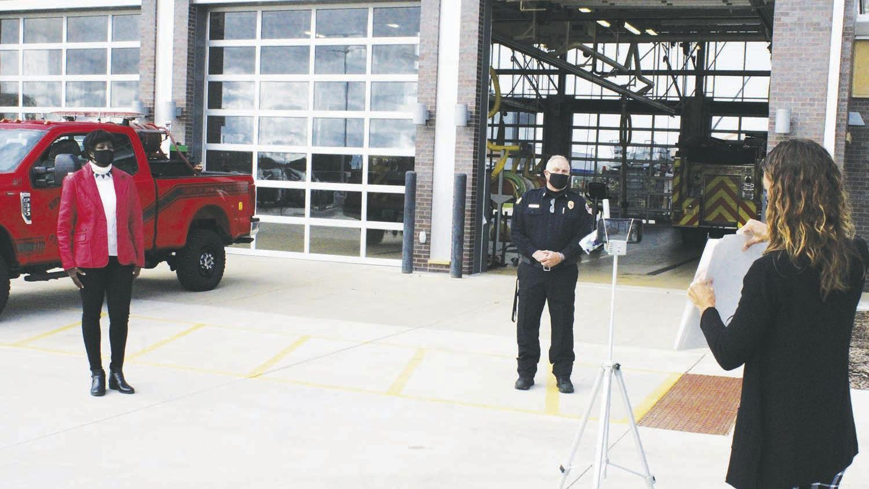 DSPS' Crim visits Sun Prairie for Fire Prevention Week