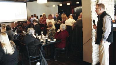 Tim Semmann addresses chamber lunch