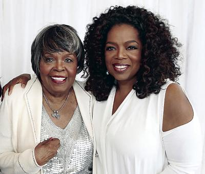 Oprah Winfrey and her mother