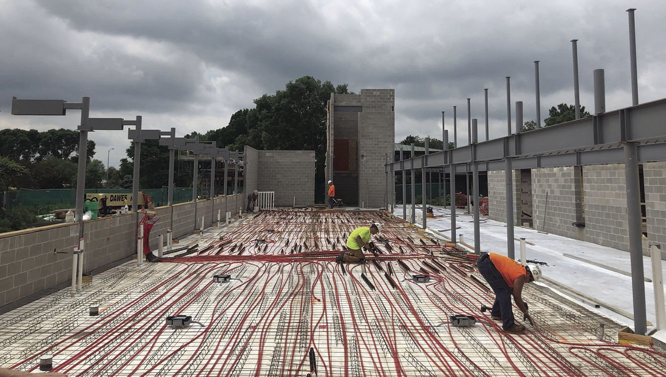 In-floor heating and cooling