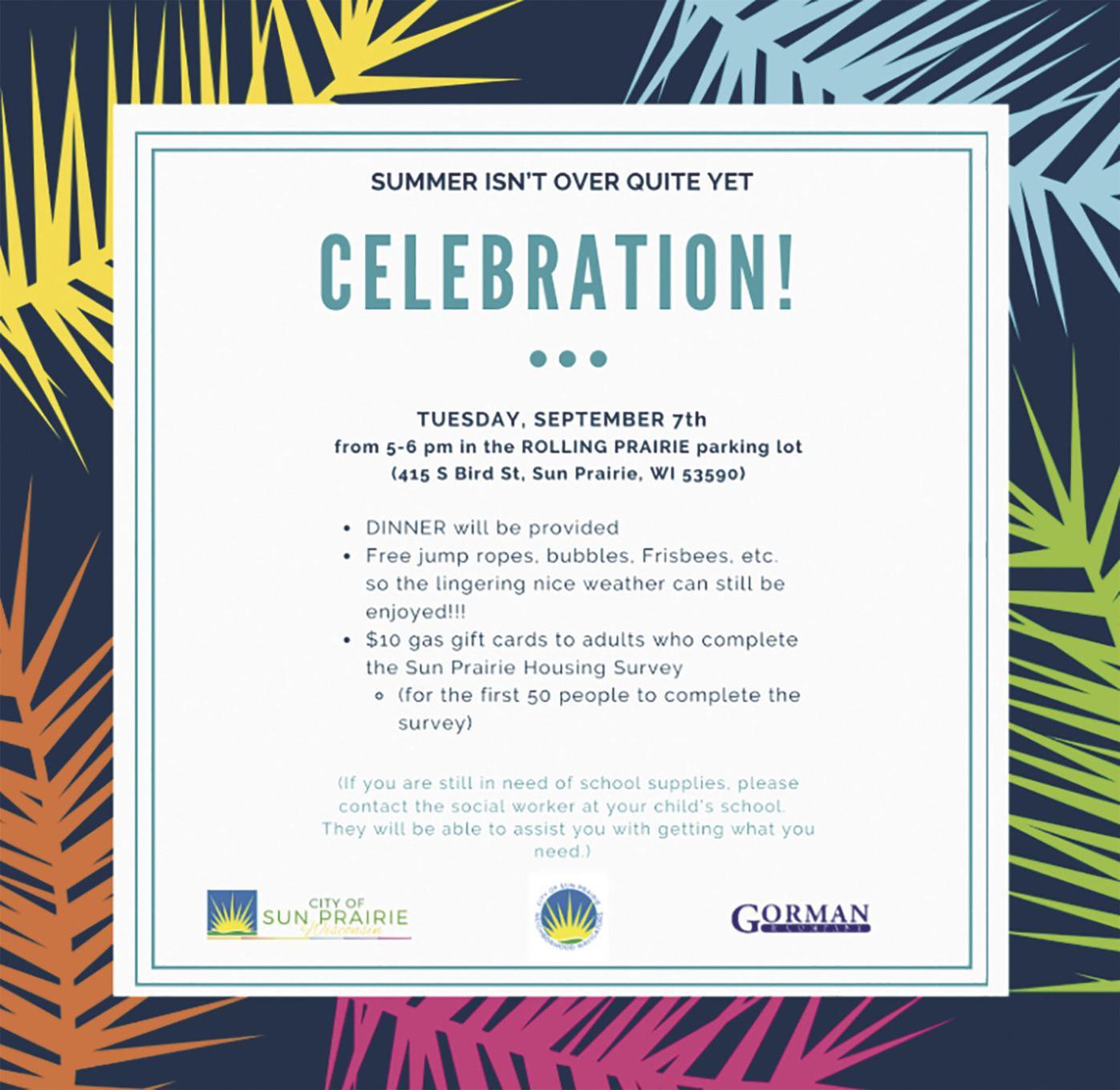 'Celebration' flyer (2021)