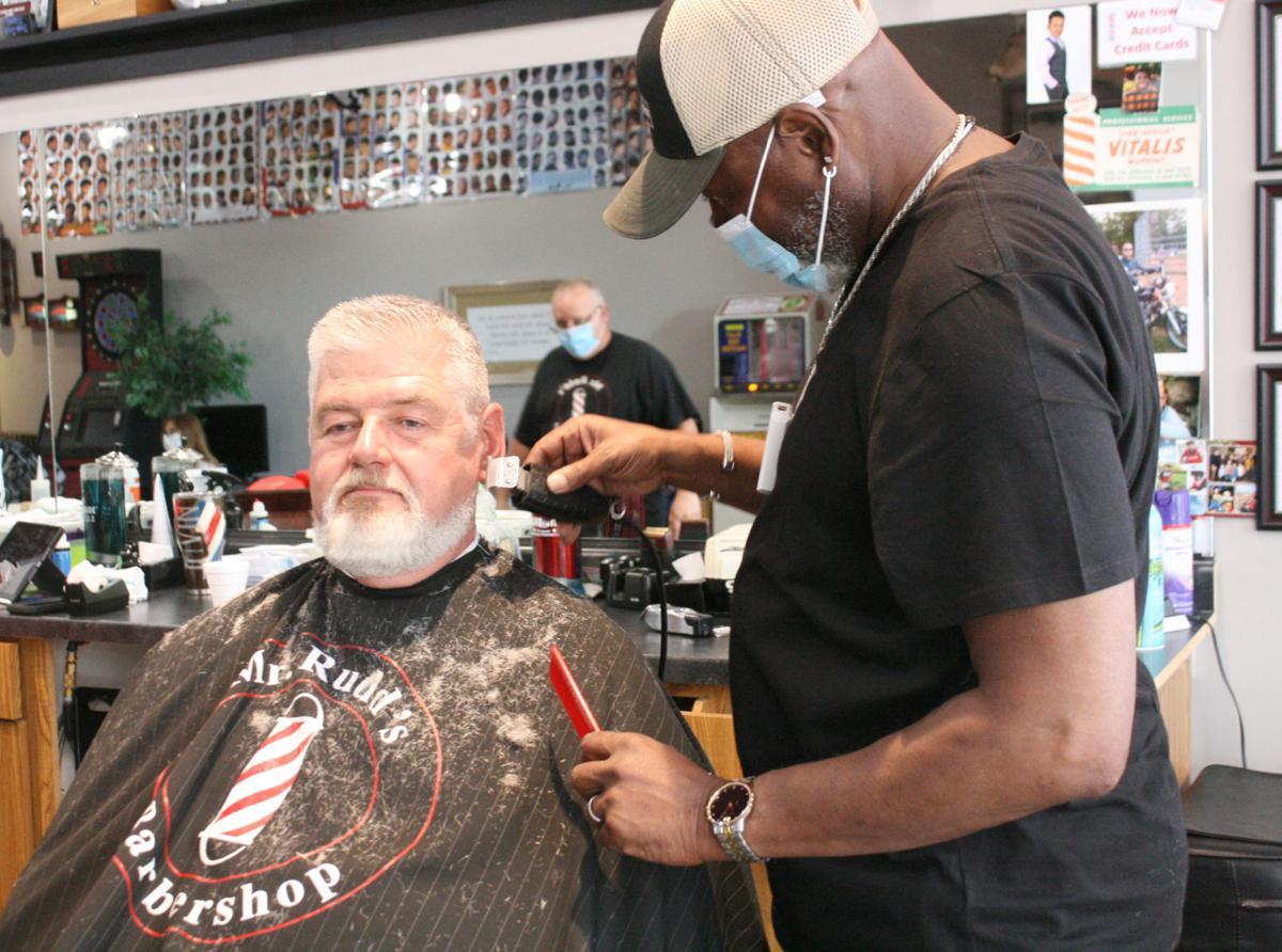 The double whammy: Mr. Rudd's Barbershop