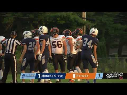 Monona Grove Football vs Portage 8/25/17
