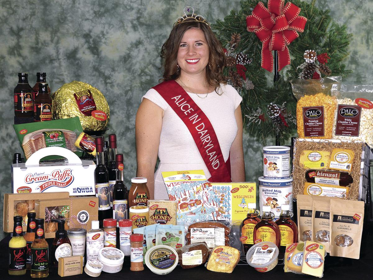 Alice in Dairyland with Wisconsin products