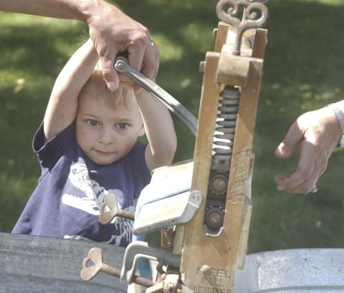The old fashioned way taught at Heritage Fest