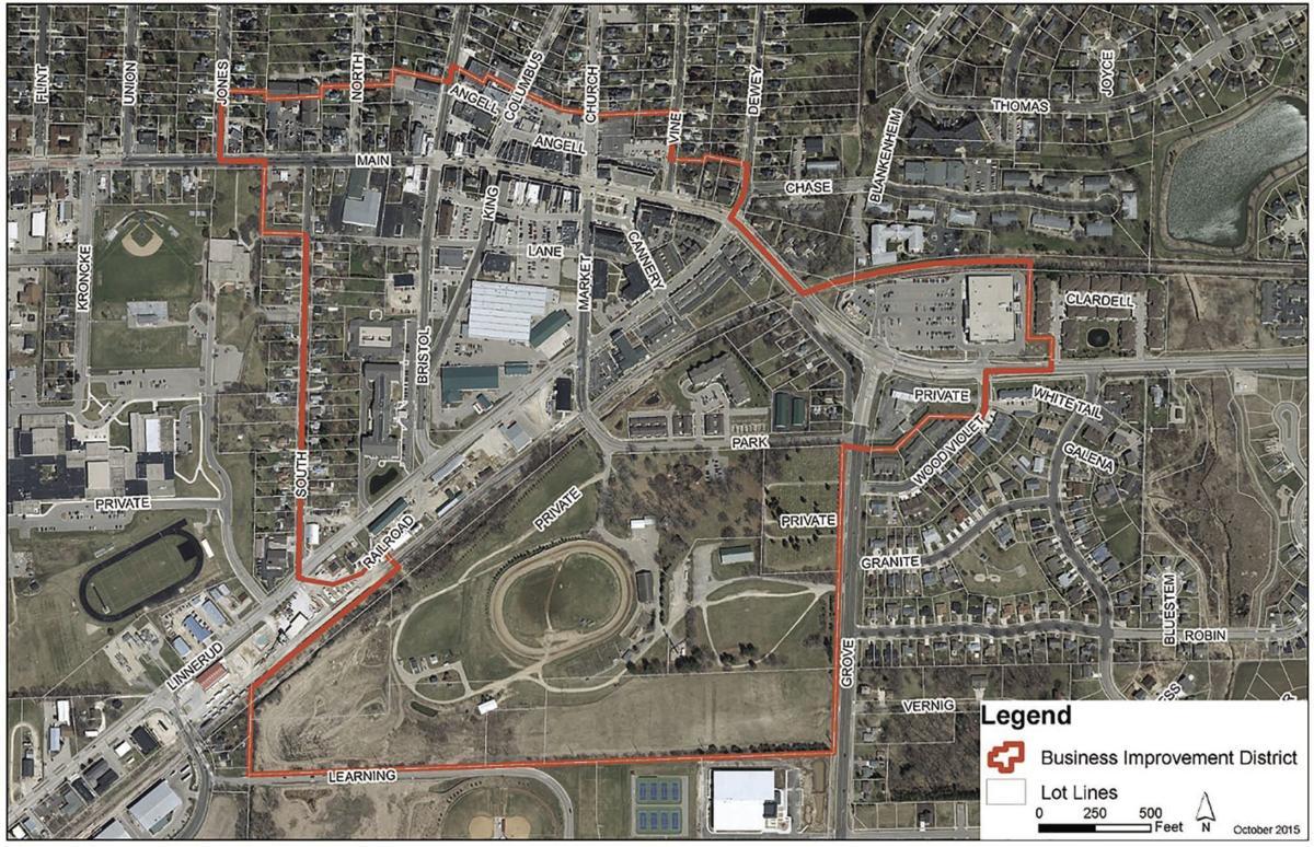 Sun Prairie Business Improvement District map (2015)