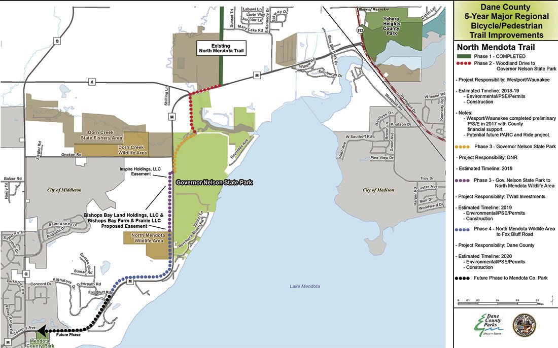 North Mendota Trail plan moves forward | Local | hngnews com