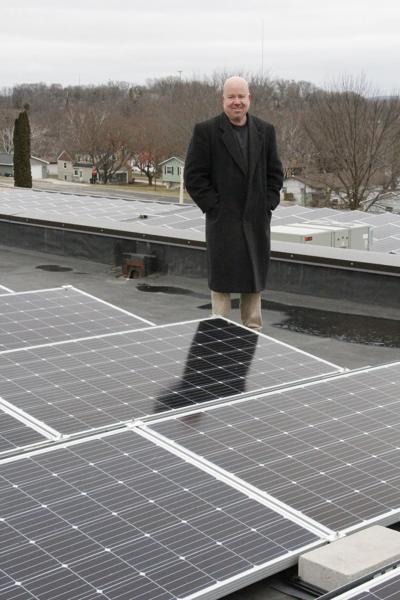 Deerfield High School solar array