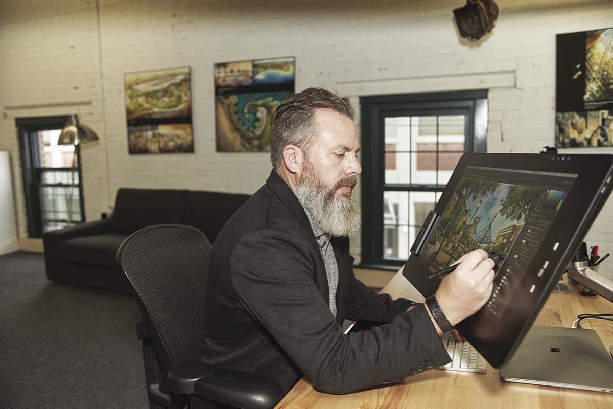 t work in his studio