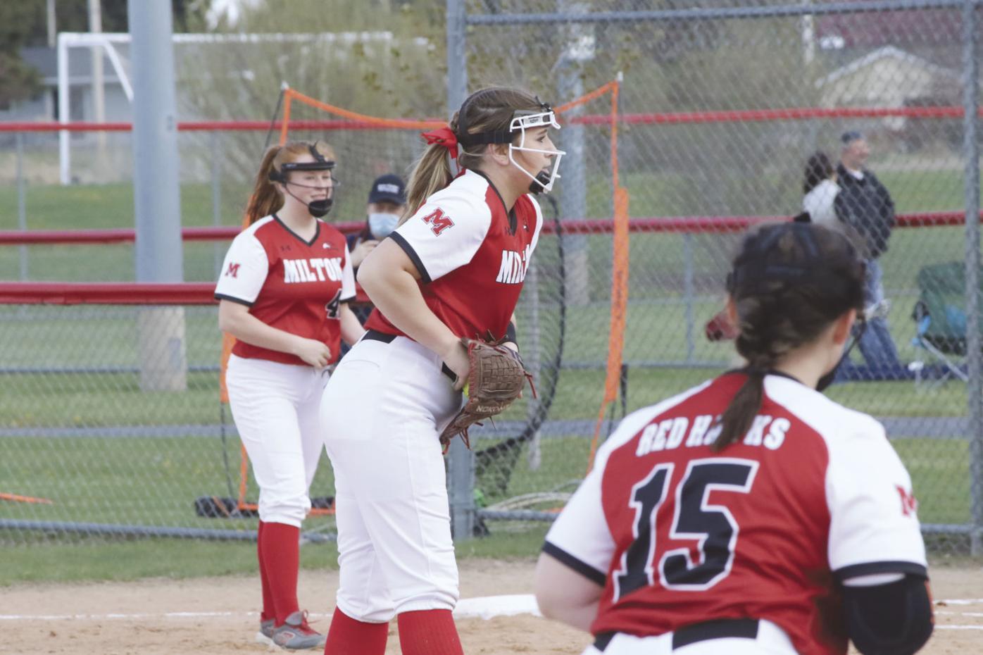 Milton softball at home April 29, 2021