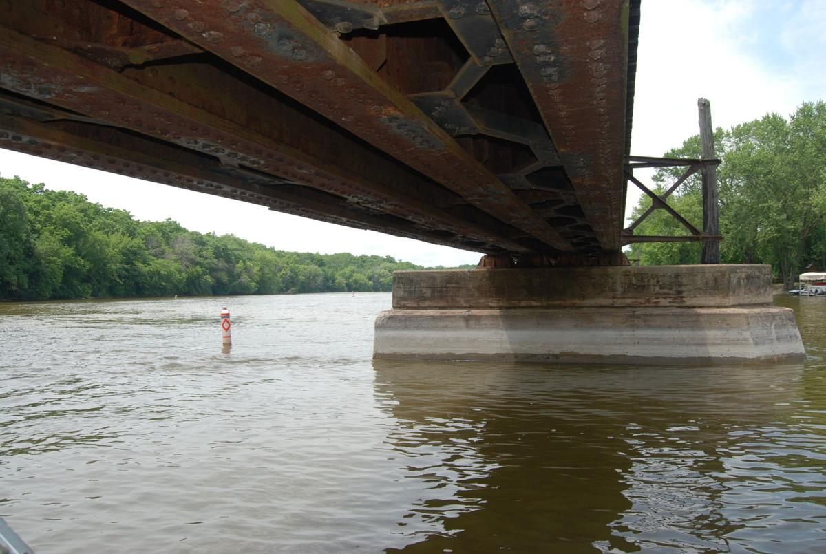Railroad bridge pier