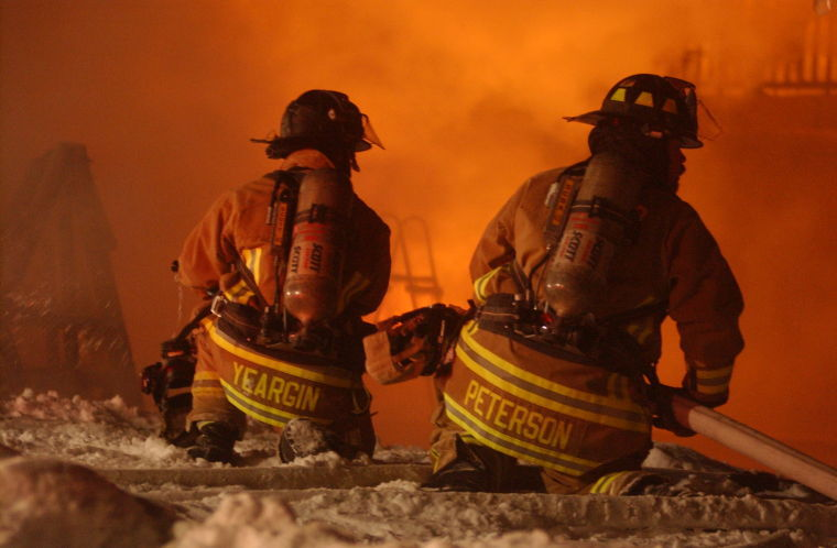 Firefighters From Several Area Departments Attempted To Control Feb. 2 House Fire In Windsor