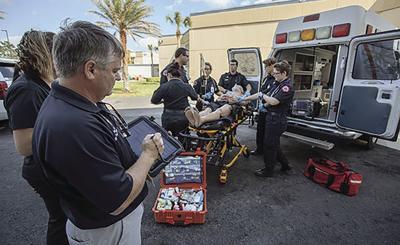 EMS Paramedic - training photo from EFSC