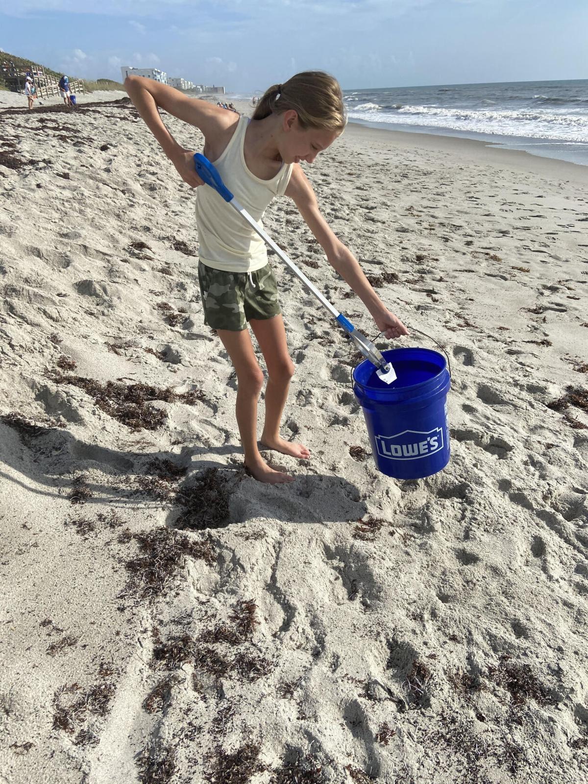 beach cleanup June 2021
