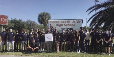 Cocoa Beach Jr/Sr High School JROTC 3rd period class