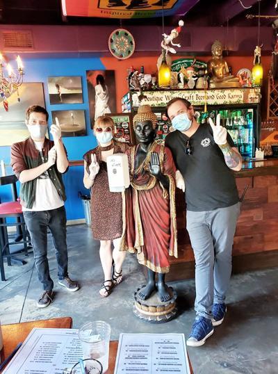Kilted Mermaid staff with masks