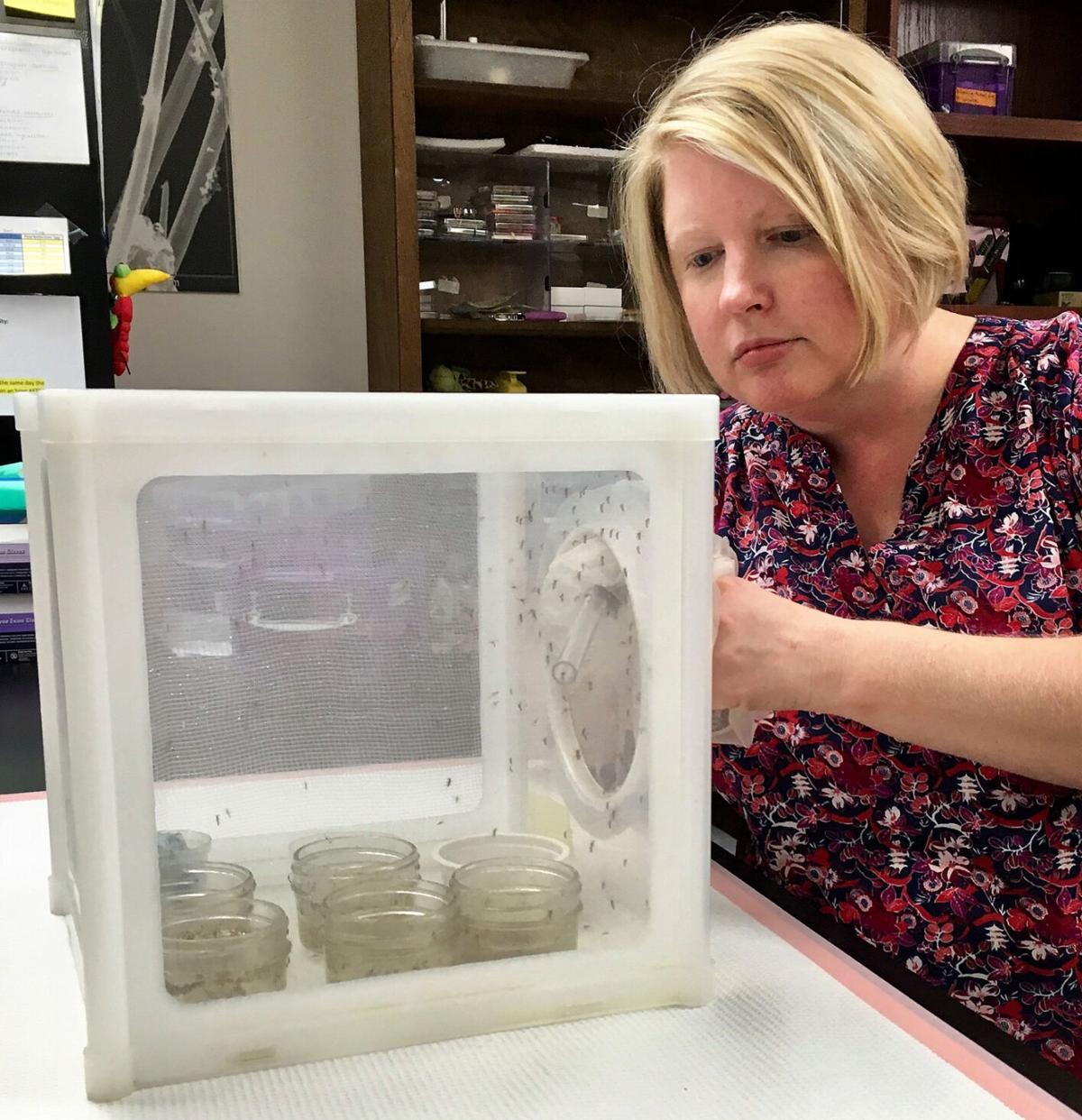 Eva Buckner at FMEL lab in Vero Beach
