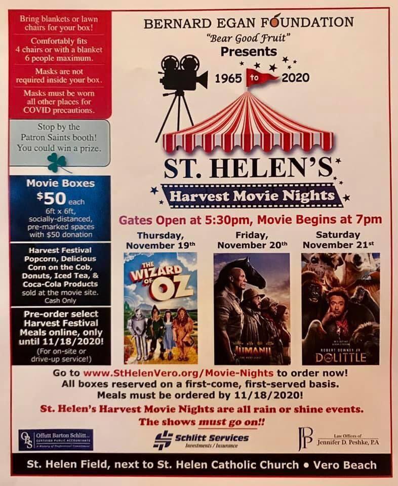 St. Helen's Movie Nights