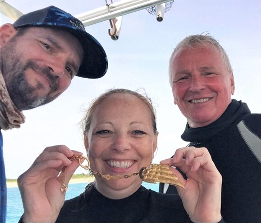 Treasure - crew members with gold bird wing