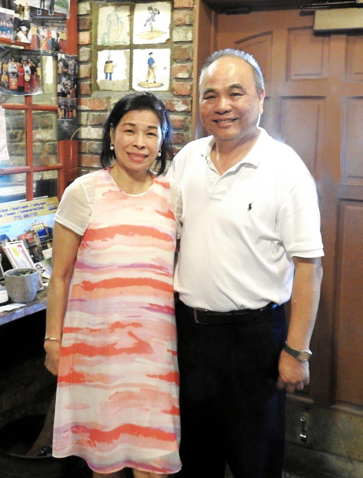 Szechuan Palace owners Sue Fen Liang and John Liang