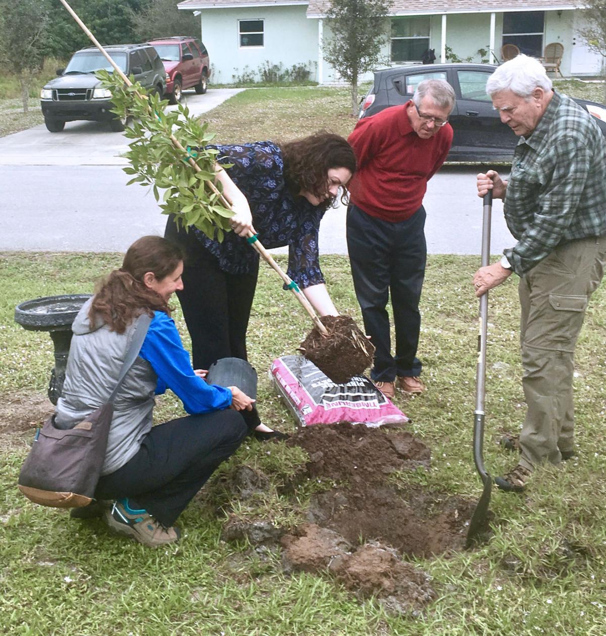 Trees for Life project, Pelican Island Audubon Society
